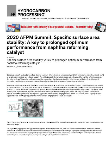 Thumb_Technical Article - 2020_afpm_summit_specific_surface_area_stability-English_1