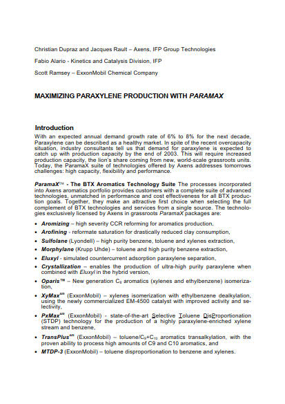 Thumb_Technical Article - Maximizing paraxylene production with paramax_suite_-_article-English_1